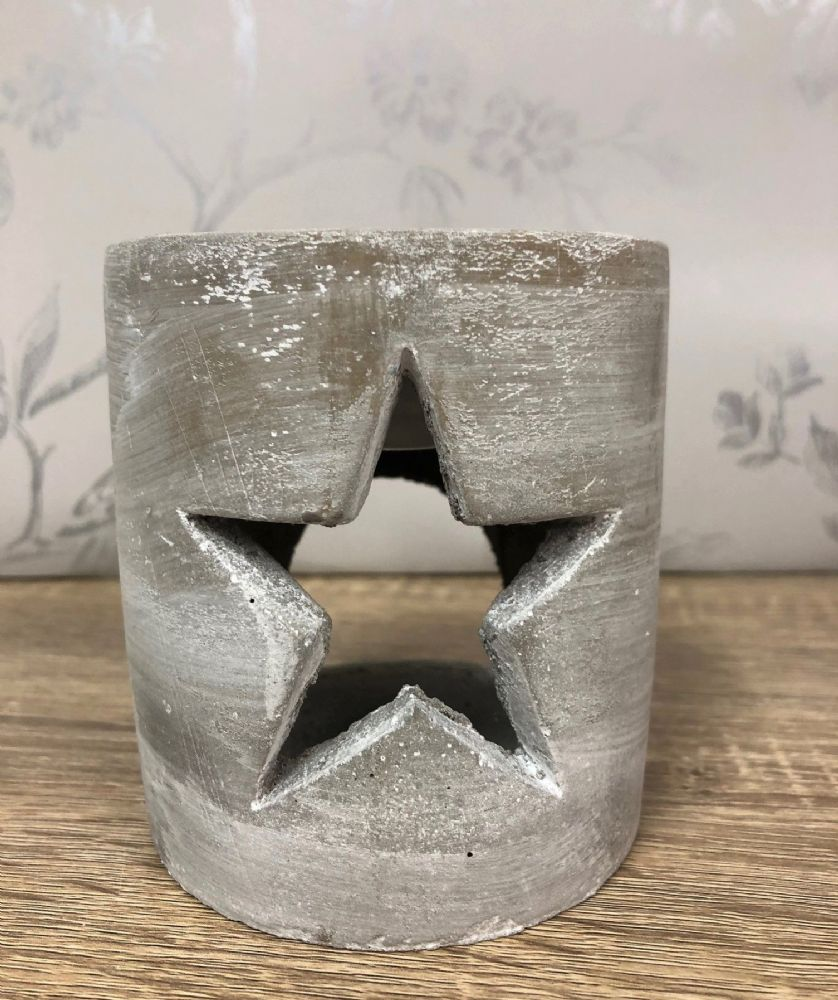 Grey Concrete Industrial Style Star Wax Melt | Oil Burner Pot